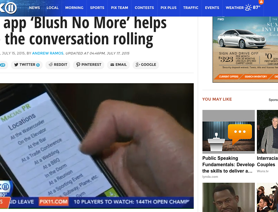 """New app 'Blush No More' helps keep the conversation rolling"""